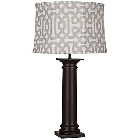 Robert Abbey Phoebe Gray Fretwork Outdoor Table Lamp