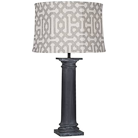 Robert Abbey Phoebe Gray Fretwork Zinc Outdoor Table Lamp