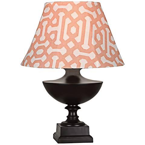 Robert Abbey Freya Orange Shade Java Outdoor Table Lamp