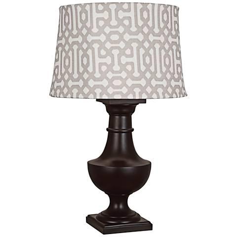 Robert Abbey Bronte Gray Fretwork Java Outdoor Table Lamp