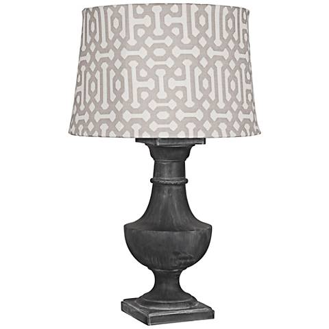 Robert Abbey Bronte Gray Fretwork Zinc Outdoor Table Lamp