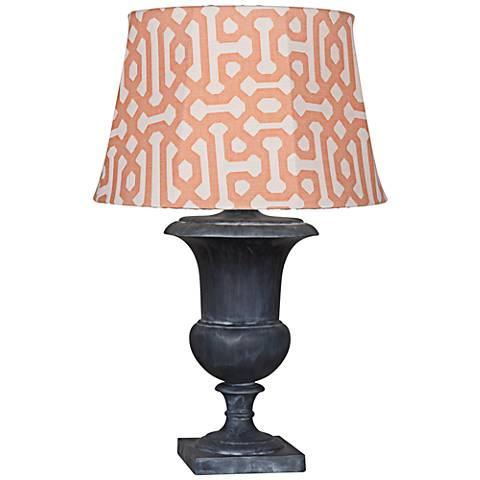 Robert Abbey Helena Orange Shade Zinc Outdoor Table Lamp