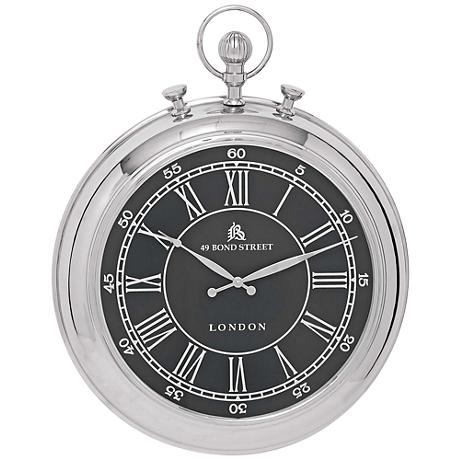 "Jameson 30"" High Pocket Watch Style Wall Clock"