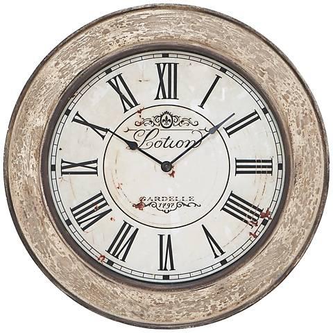 "Gardelle Ivory 24"" Round Wall Clock"