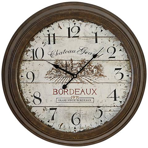 "Chateau Grand 23"" Round Metal Wall Clock"