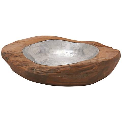 """Terra Teak 12"""" Wide Decorative Bowl"""