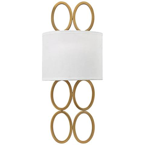 "Hinkley Jules 20 1/2"" High Brushed Gold Wall Sconce"