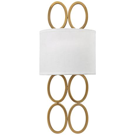 """Hinkley Jules 20 1/2"""" High Brushed Gold Wall Sconce"""