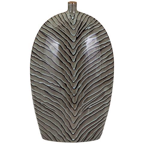 "Inka 20 1/2"" High Epic Ceramic Vase"