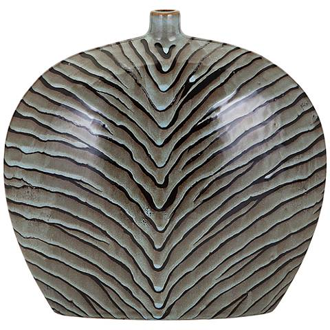 "Inka 13 1/2"" High Epic Ceramic Vase"