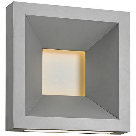 "Hinkley Plaza 10"" High Titanium LED Outdoor Wall Light"