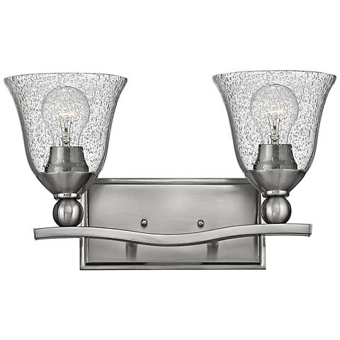 "Hinkley Bolla 16"" Wide Brushed Nickel Bath Light"