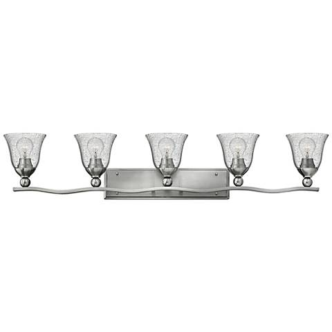 "Bolla 45 3/4"" Wide Brushed Nickel 5-Light Bath Light"