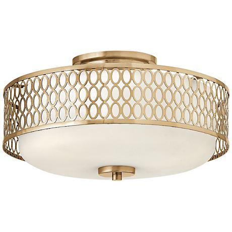 "Hinkley Jules 8 1/4"" High Brushed Gold Ceiling Light"