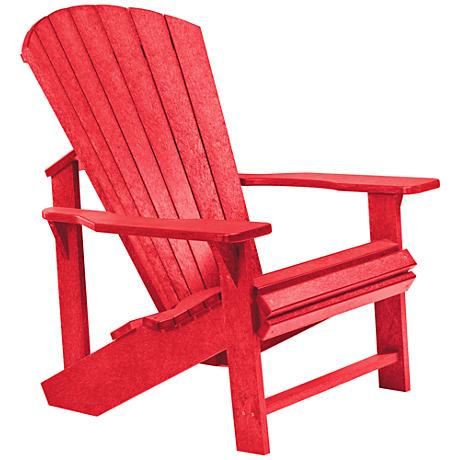 Generations Red Outdoor Adirondack Chair