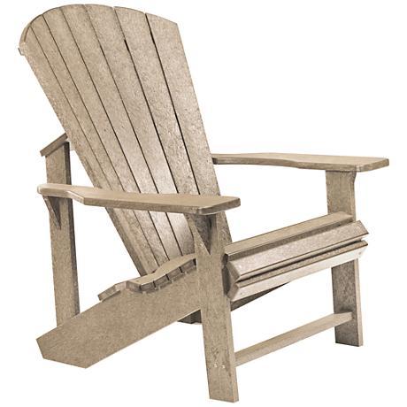 Generations Tan Outdoor Adirondack Chair