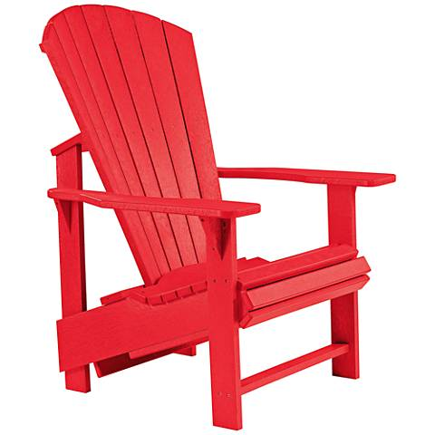 Generations Red Upright Outdoor Adirondack Chair