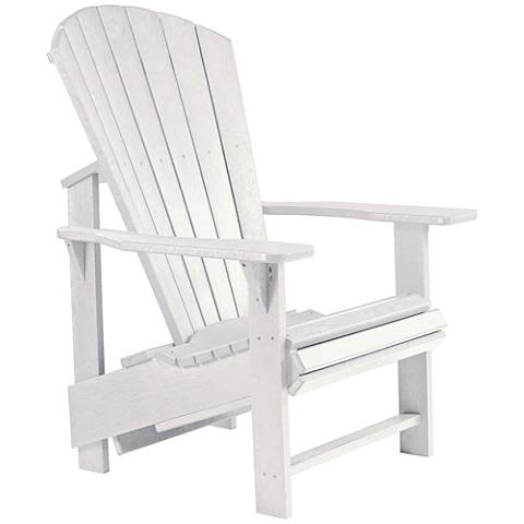 Generations White Upright Outdoor Adirondack Chair