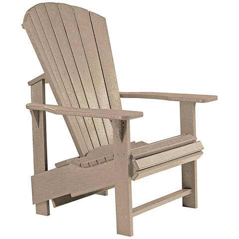 Generations Tan Upright Outdoor Adirondack Chair
