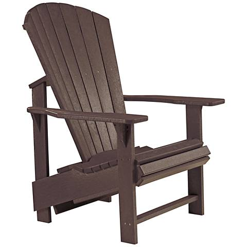 Generations Chocolate Upright Outdoor Adirondack Chair