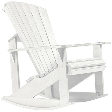 Generations White Outdoor Adirondack Rocking Chair