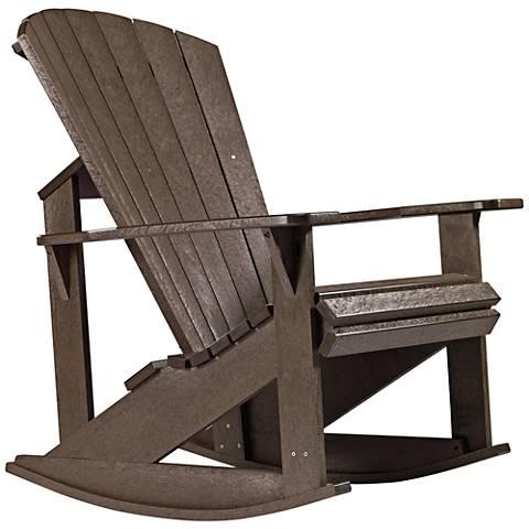Generations Chocolate Outdoor Adirondack Rocking Chair