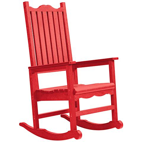 Generations Red Outdoor Casual Porch Rocker