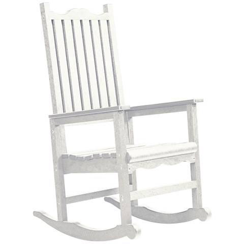 Generations White Outdoor Casual Porch Rocker