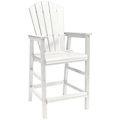 Generations White Outdoor Adirondack Pub Height Armchair