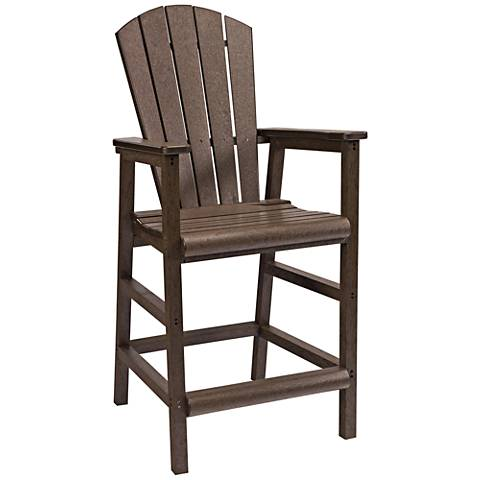 Generations Chocolate Outdoor Adirondack Pub Height Armchair
