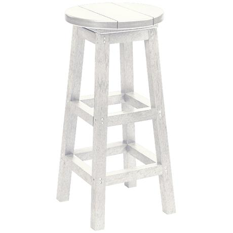 """Generations White 30"""" Backless Outdoor Barstool"""