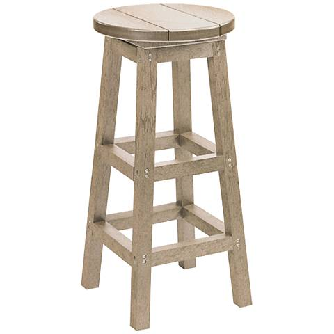 "Generations Tan 30"" Backless Outdoor Barstool"