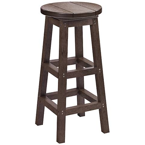 """Generations Chocolate 30"""" Backless Outdoor Swivel Barstool"""