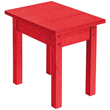 Generations Red Small Outdoor Side Table