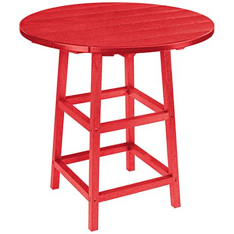 Generations Red Round Outdoor Pub Table