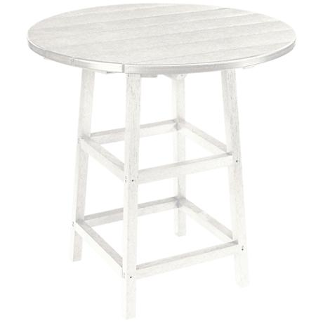Generations White Round Outdoor Pub Table