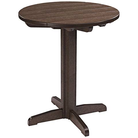 Generations Chocolate Round Outdoor Pub Height Pedestal Table