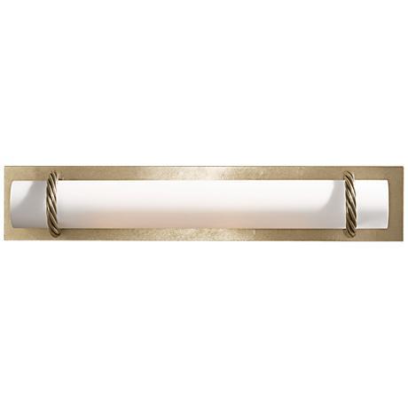 "Hubbardton Forge Cavo Gold 24""W Opal Glass Bath Light"