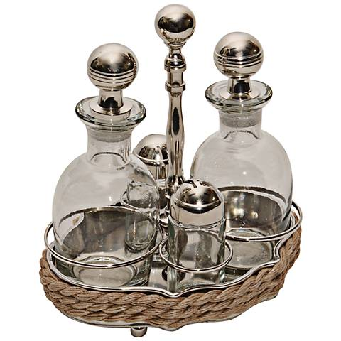 Pacific Railcar Chrome 5-Piece Glass Truet Server Set
