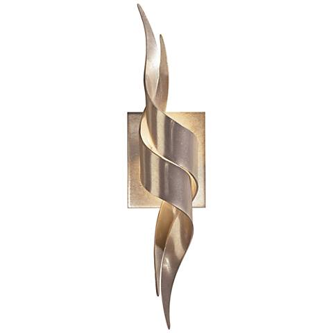 """Hubbardton Forge Flux 19 1/2"""" High Soft Gold Wall Sconce"""
