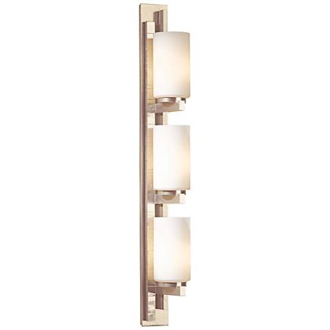 "Hubbardton Forge Ondrian Gold 27""H Opal Glass Wall Sconce"