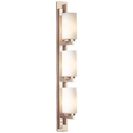 """Hubbardton Forge Ondrian Gold 27""""H Opal Glass Wall Sconce"""