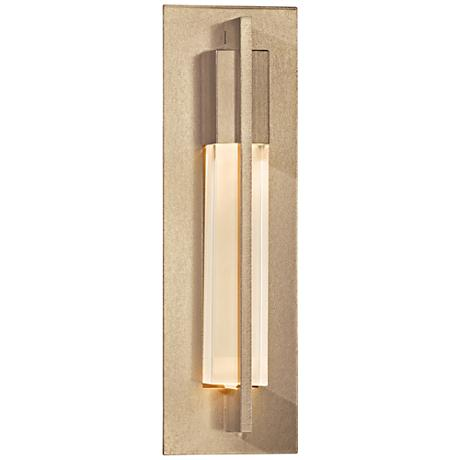 "Hubbardton Forge Axis 15""H 1-Light Soft Gold Wall Sconce"