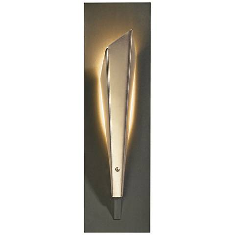 "Hubbardton Forge Quill LED 15 1/2""H Soft Gold Wall Sconce"