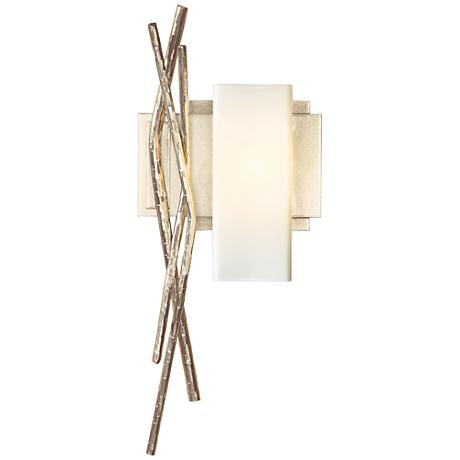"""Hubbardton Forge Brindille Opal 18 3/4"""" Gold Wall Sconce"""