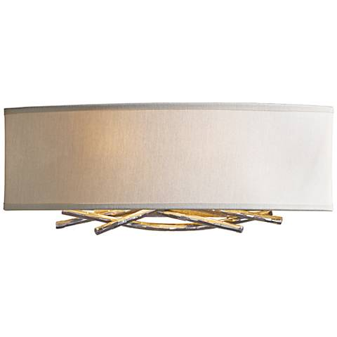 "Hubbardton Forge Brindille Flax 6""H Soft Gold Wall Sconce"