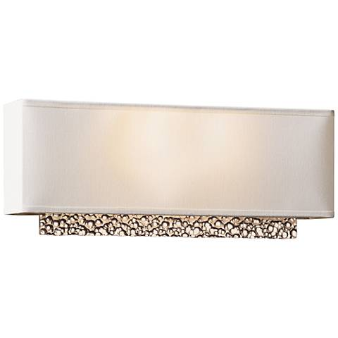 """Hubbardton Forge Oceanus Suede 16 1/2""""W Gold Wall Sconce"""