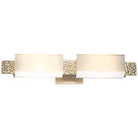 "Hubbardton Forge Oceanus Opal 23""W Soft Gold Bath Light"