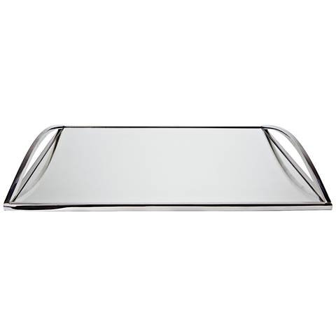 Santa Ana Large Square Stainless Steel Serving Tray