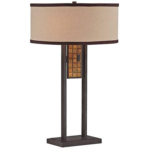 Lite Source Marquetta Aged Bronze Metal Table Lamp